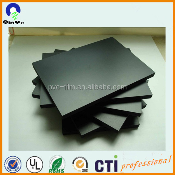 hard surface black pvc foam board sheet