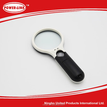 3LED 65MM handheld magnifying glass
