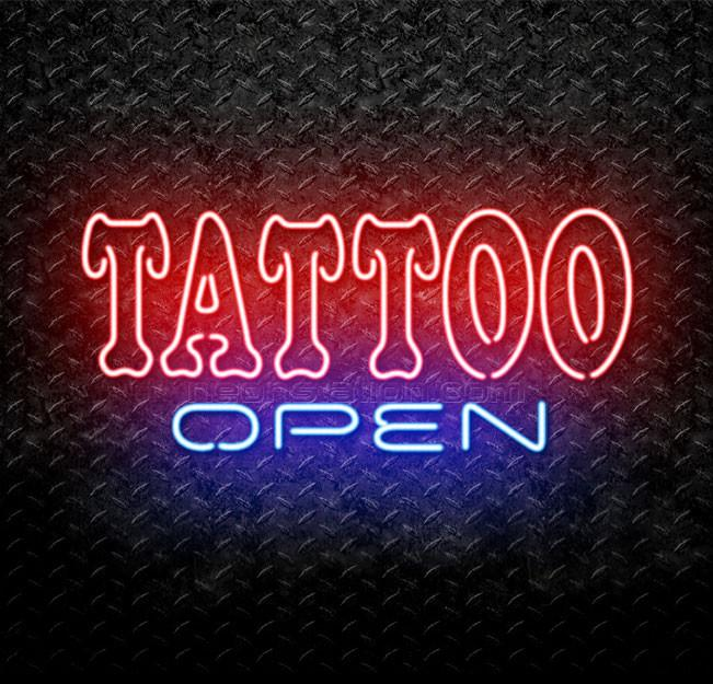 Custom High Quality Neon Light Big TATTOO neon Open <strong>Sign</strong>