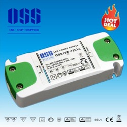 OSS15W-12CVL 1.25a, dc 12v Power Supply, ultra slim LED driver