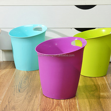 Bathroom creative fashion portable trash cans living room kitchen household plastic trash cans without lid