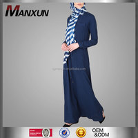 Navy blue abaya turkey high quality new design abaya with belt new model abaya in dubai