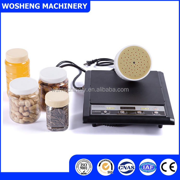 WOSHENG DL-500 plastic bottles caps induction sealing machine