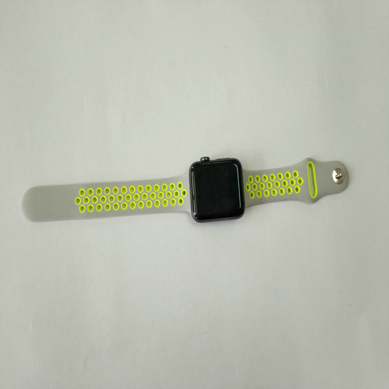 38/42mm soft silicone watch wristband apple watch band for fashion people doing sport