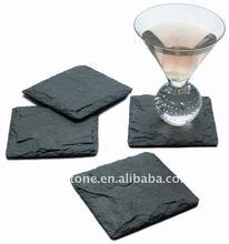 Natural slate stone granite coasters and placemats