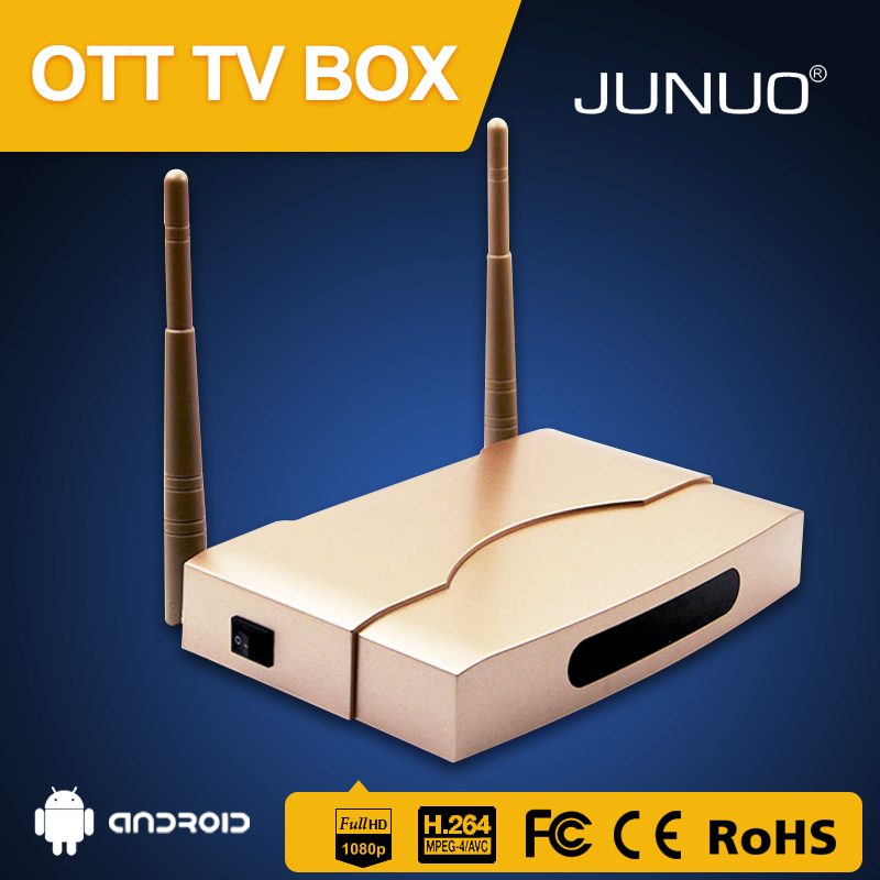 JUNUO wholesale quality 2GB ram 8GB rom s905x 6.0 android tv box install free play store app