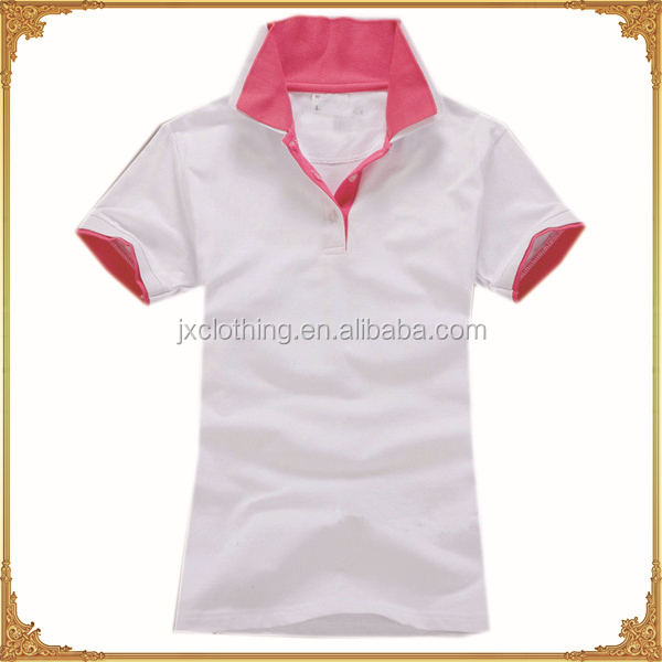 custom design dry fit pk two tone polo shirt 100% cotton
