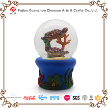 2017 Decoration Resin Glass Snow Globe for Ocean Animal ,Souvenir Water ball