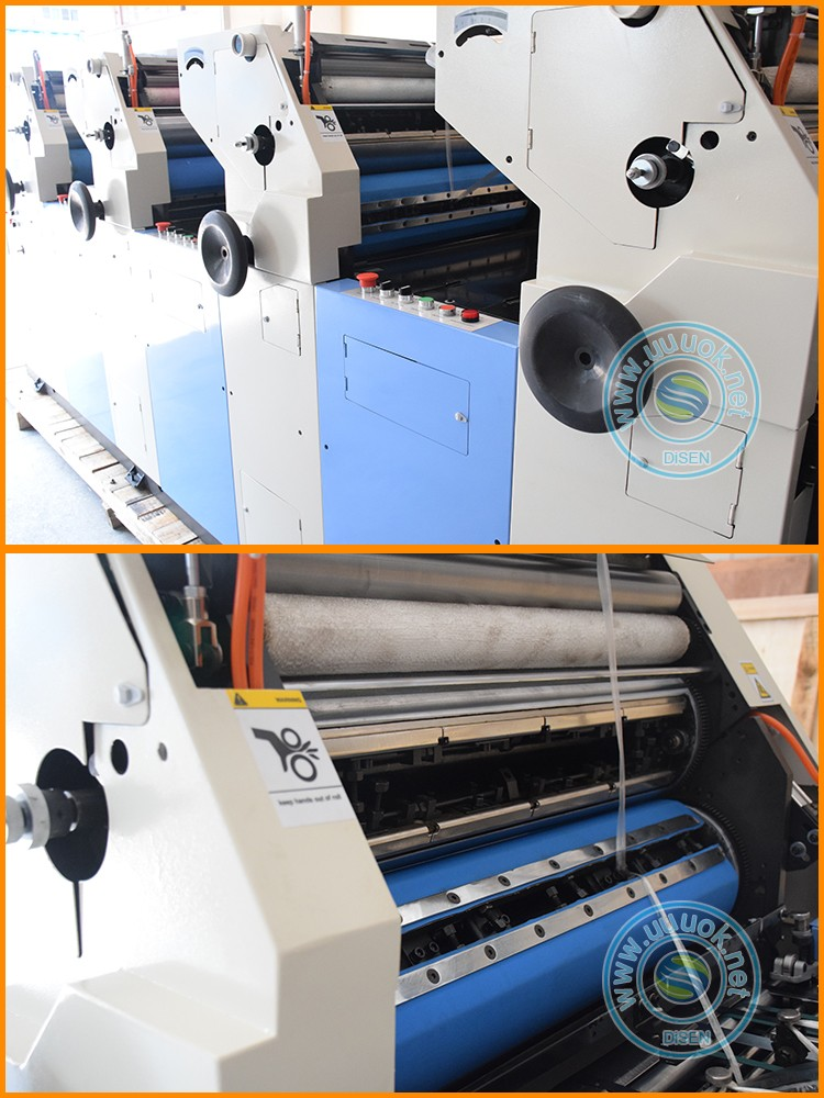 High speed flyer leaflet newspaper automatic 4 colour offset printing machine price