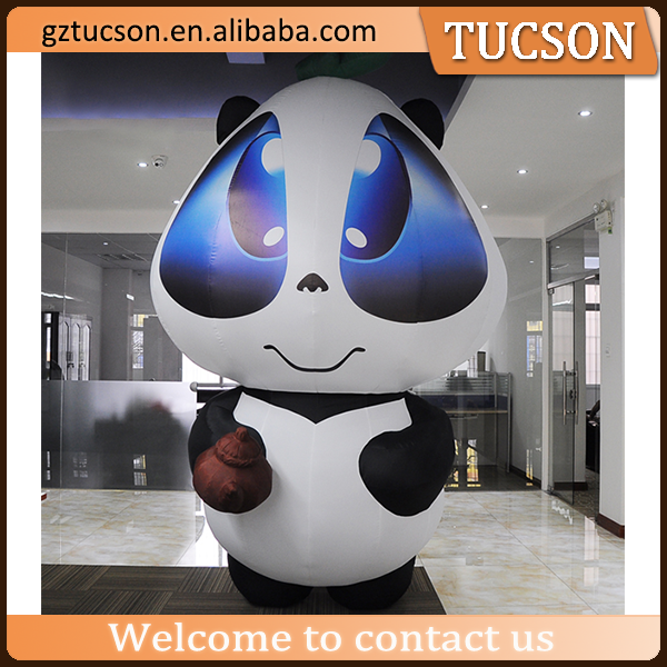 giant customized inflatable panda/advertising inflatable cartoon mode advertising
