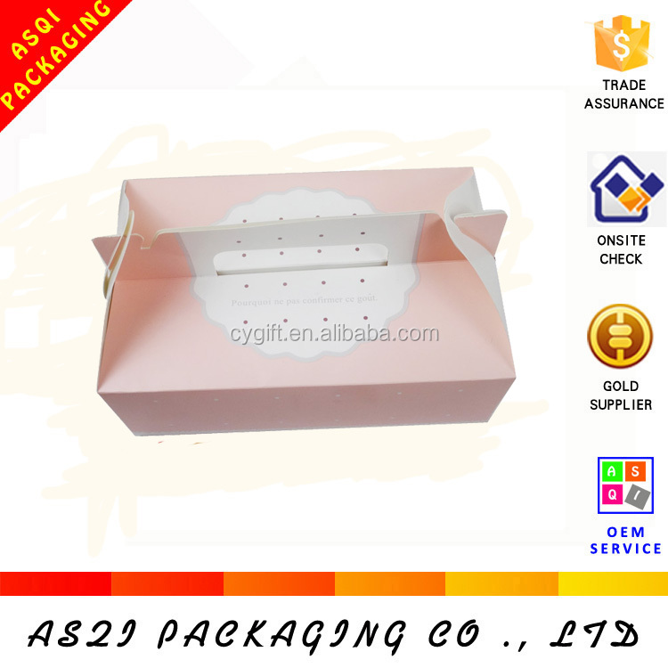 cute fashionable birthday cake paper box handle with window