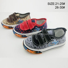 New customized unisex children casual canvas shoe skate footwear