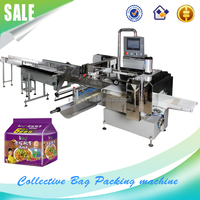 Servo motor Packaging Machines for instant noodle / cookies / soup bases