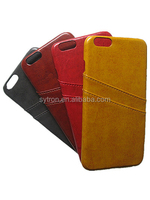Cell Phone Cases Manufacturer PU Leather Back Cover Case For Iphone 6