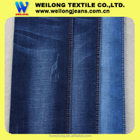 M0052 cotton polyester spandex rayon blue slub denim jeans fabric for children