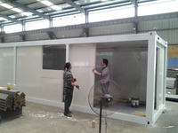 light steel frame prefab 40ft portable flatpack 20ft container house villa, office, home