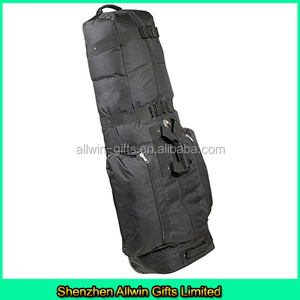 Portable caddy golf bag, golf travel cover with wheels