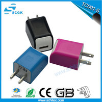 super fast emergency mobile phone travel charger,5v1a travel charger