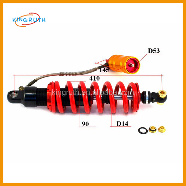 Factory supply Replacement 410mm Rear Shock 250cc sport atv racing quad