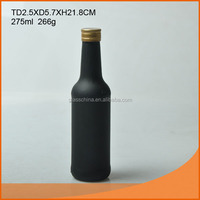 200ML Black glass beer bottle