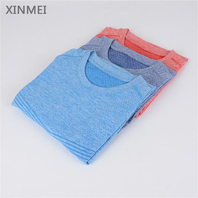 Quick dry short sleeve seamless popular men plain t-shirts