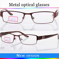 2016 fashion hot sale full frames metal optical frame eyeglass manufacturer with high quality