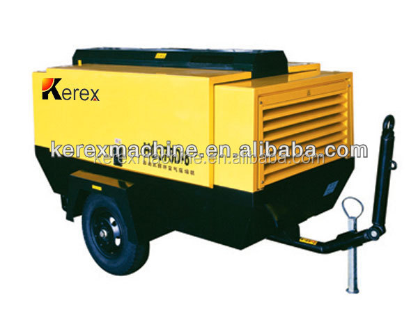 airman screw air compressor HG375D-8 8bar 10.6m3/min Indian portable compressors on wheels