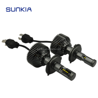 Sunkia 2016 Factory Directly Wholesale Price Fanless Design Car P7 H4 LED Headlight
