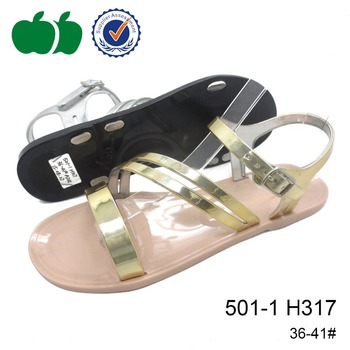 2015 new style fashion pvc jelly sandal shoes