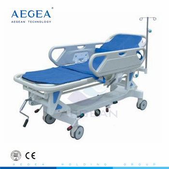 AG-HS002 manual cranks control central locking system hospital hydraulic stretcher for emergency