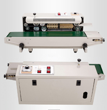Vertical Horizontal Continuous heating plastic Aluminum foil band bag sealer