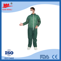 Disposable coverall suit oil working fire retardant coverall