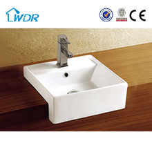 W6140A Square Ceramic Turkish Bathroom Sink
