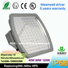 cUL UL DLC Rosh 40W to 200w LED gas station lighting , HLG MW driver with protective Aluminum Housing