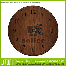 Coffee&cafe bar decoration round wall clock
