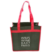 Hot sale reusable 3 bottles promotion non woven wine bag