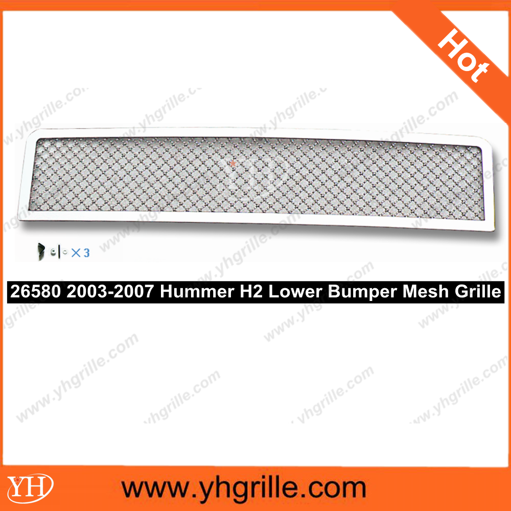 Hot sale Bumper Stainless Mesh Grille auto mesh grille for Hummer H2 03-07