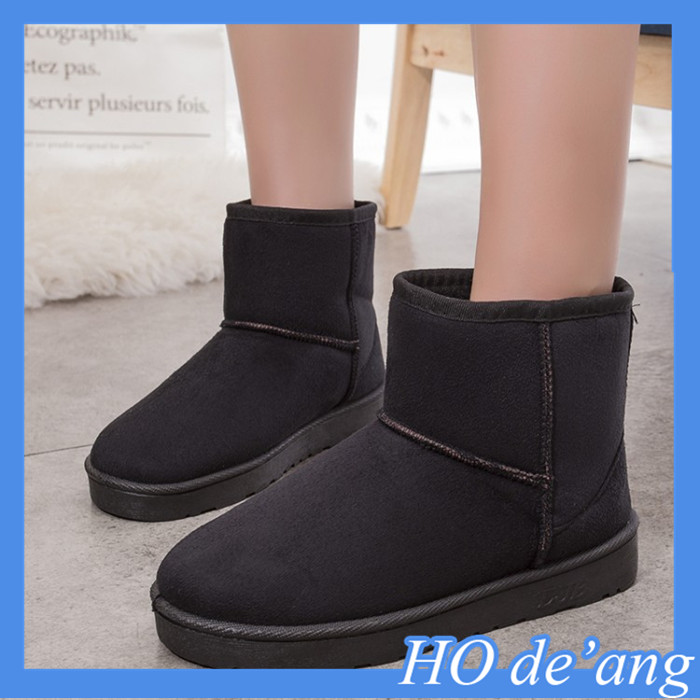 Hogift 2016 new winter boots fur women rubber snow boots wholesale Korean warm casual boots MHo-106