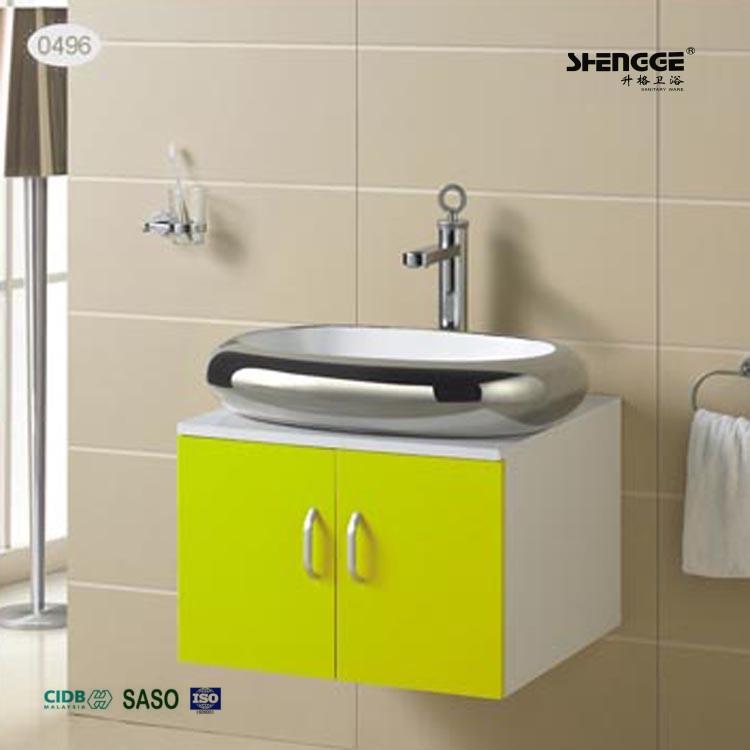 Sf cb2555 latest mdf yellow commercial bathroom vanity - Commercial bathroom vanity units suppliers ...