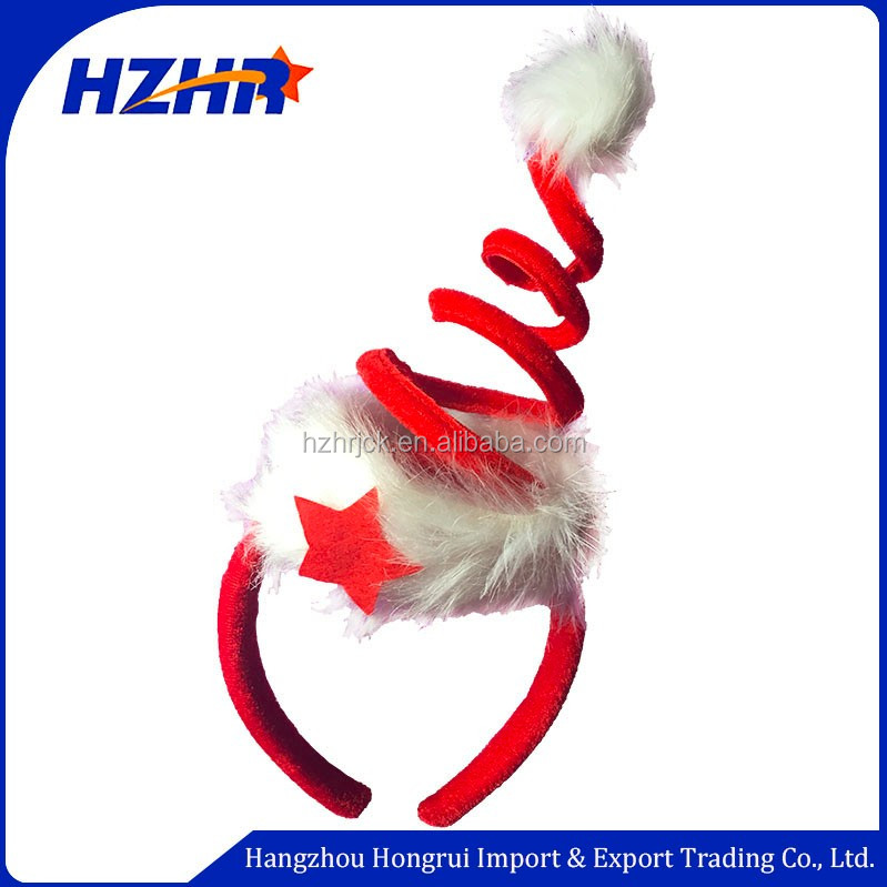 Red Xmas decorations christmas hair band/christmas headband