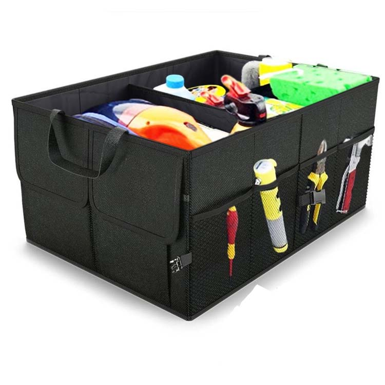 Heavy Duty Collapsible Auto Car Organizer Trunk Console Organizer for Vehicles