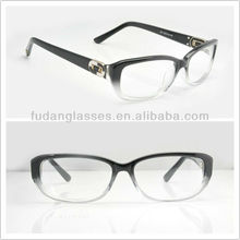 Hot sell eye glass BV4056B 501 EG black mix transparent frame glasses fashion 2013 eye glasses frame acetate optical frame