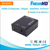 4k@60HZ support 4k*2k Up to 25m HDMI 2.0 HDMI repeater