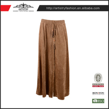 Fast delivery seamless Suede ladies beautifu casual ethnic indian long fashionable maxi skirts