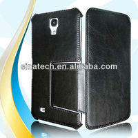 Protective PU leather pc+metal case for samsung galaxy s4 mini i9190