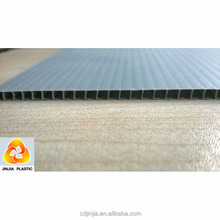 polypropylene material corrugated plastic floor protection sheets