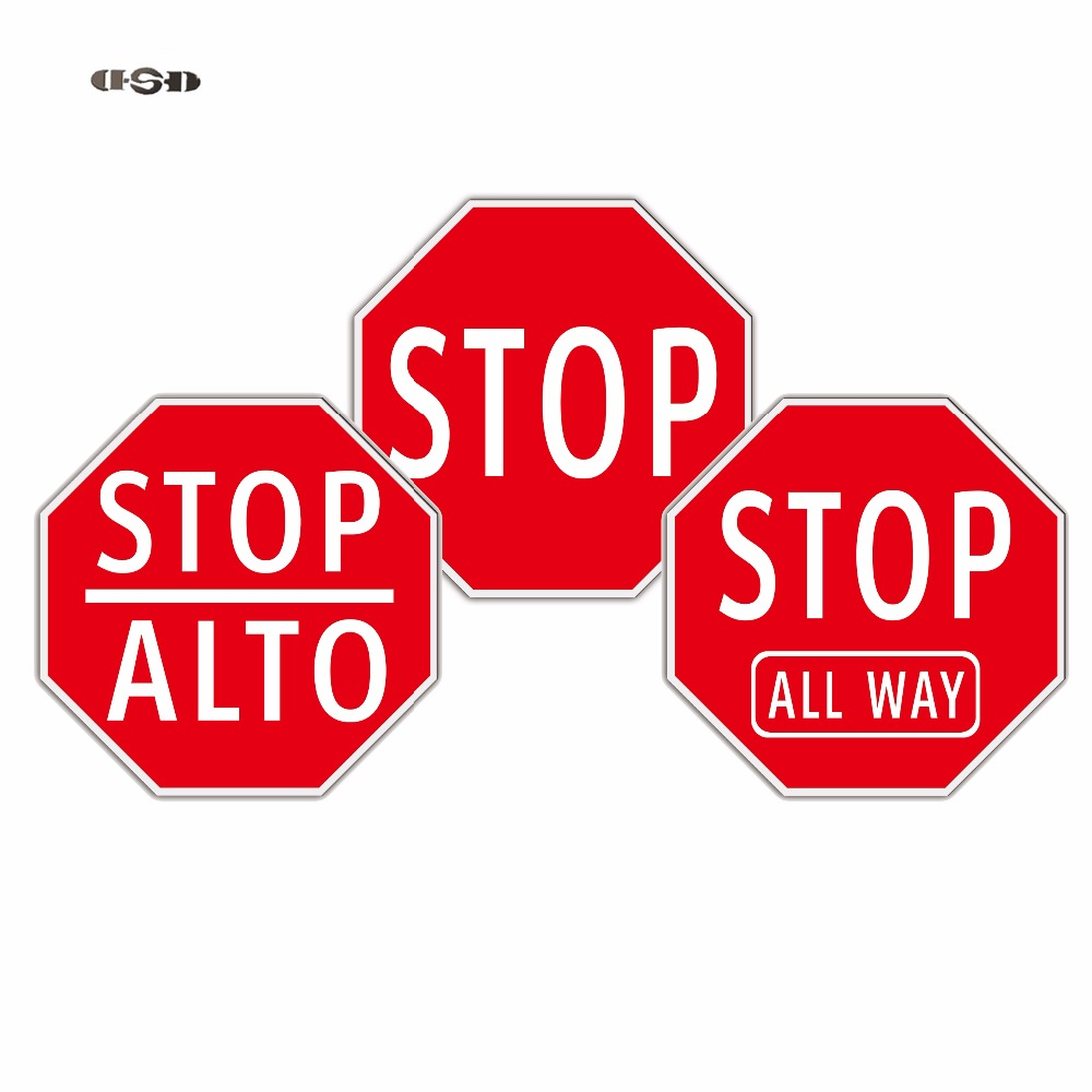 Octagon sharp Stop signs High quality Aluminum Reflective Customized Traffic Road Safety Signs