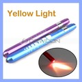 Warm Yellow Light Doctor Pupil Gauge Nurses Medical Pen Torch