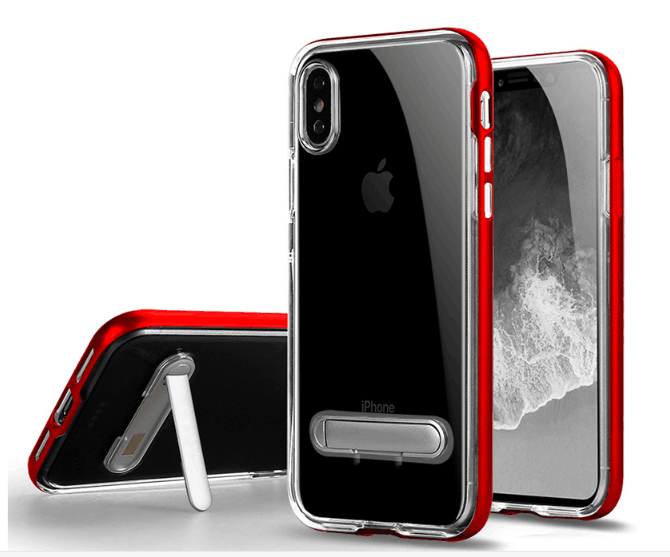 Clear TPU Kickstand Case Slim thin <strong>Cover</strong> With Stand For iPhone 8