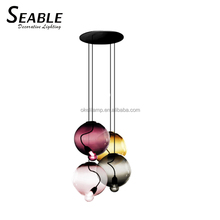 new model chandeliers blown by hand glass lamp shades luminaire design